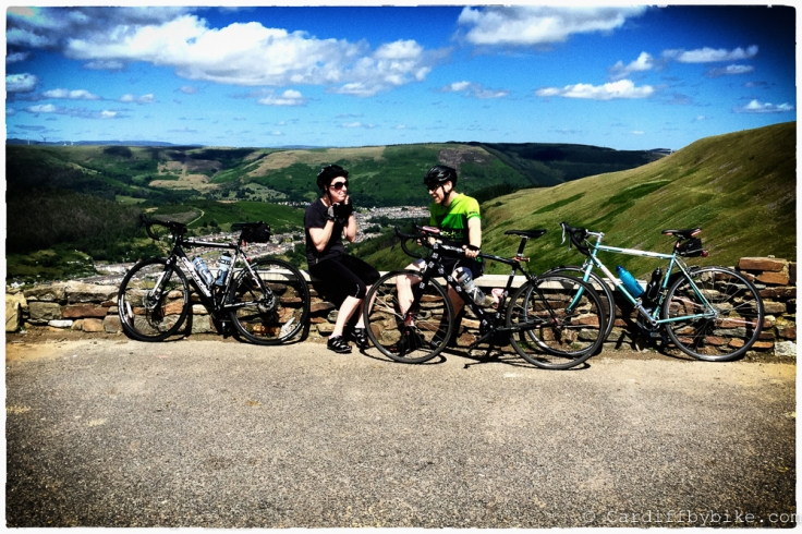A day out riding from Neath to Cardiff, via the Bwlch.